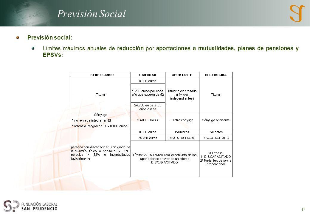 Previsión Social Previsión social: