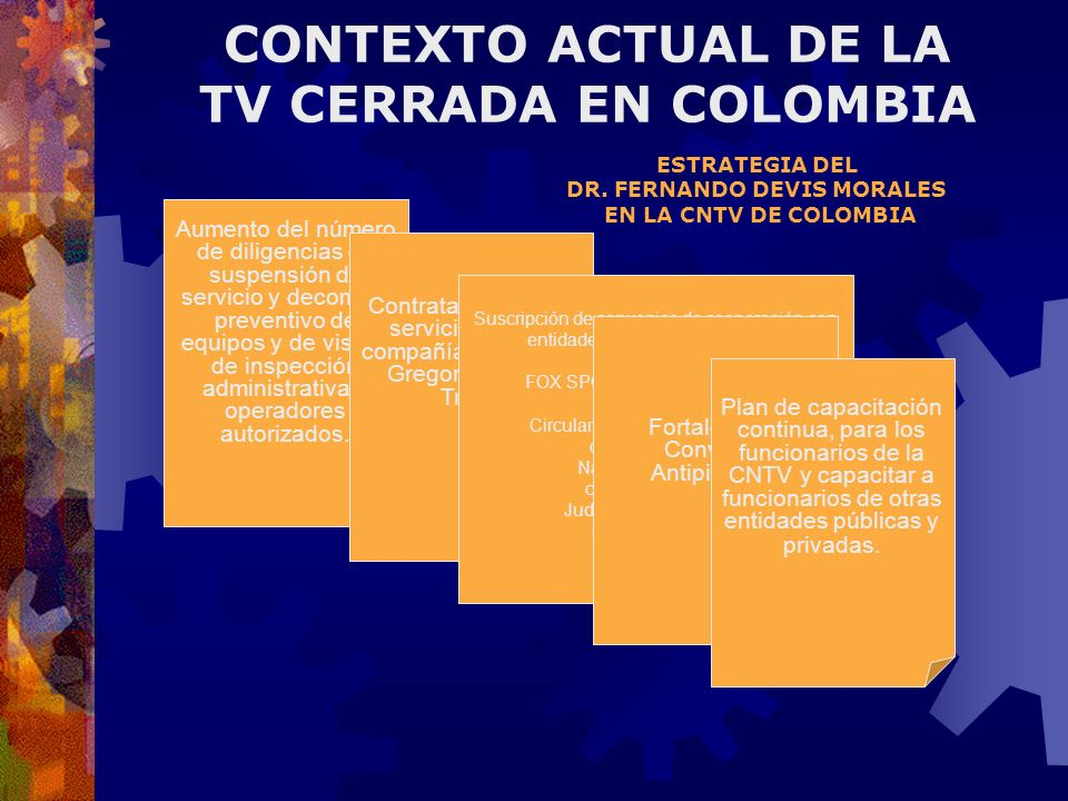 CONTEXTO ACTUAL DE LA TV CERRADA EN COLOMBIA