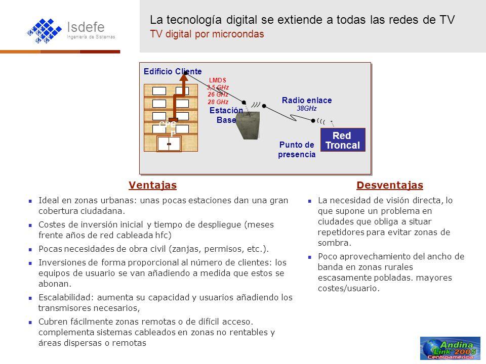 La tecnología digital se extiende a todas las redes de TV TV digital por microondas