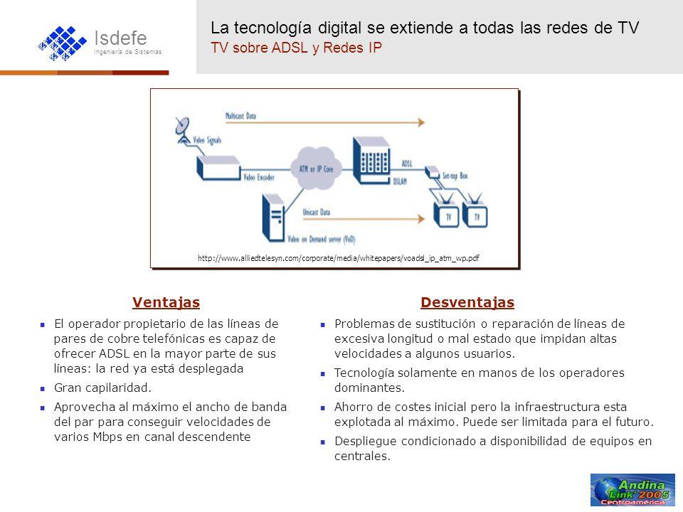 La tecnología digital se extiende a todas las redes de TV TV sobre ADSL y Redes IP