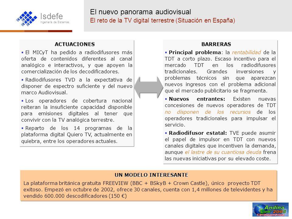 El nuevo panorama audiovisual El reto de la TV digital terrestre (Situación en España)