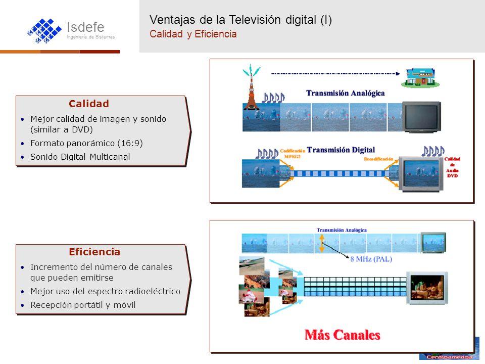 Ventajas de la Televisión digital (I) Calidad y Eficiencia