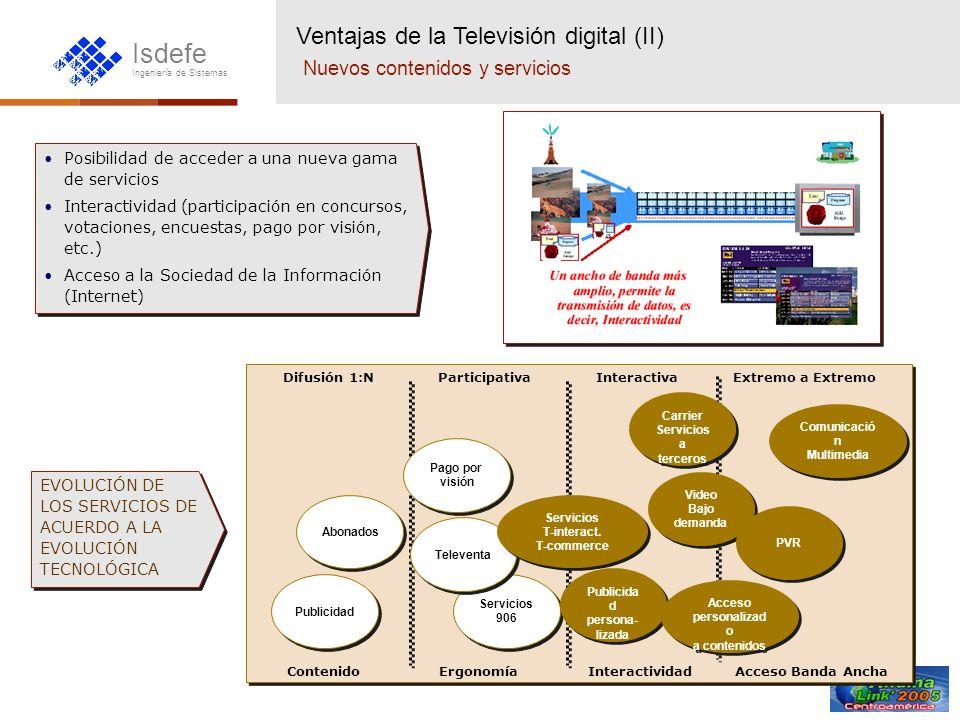 Ventajas de la Televisión digital (II) Nuevos contenidos y servicios
