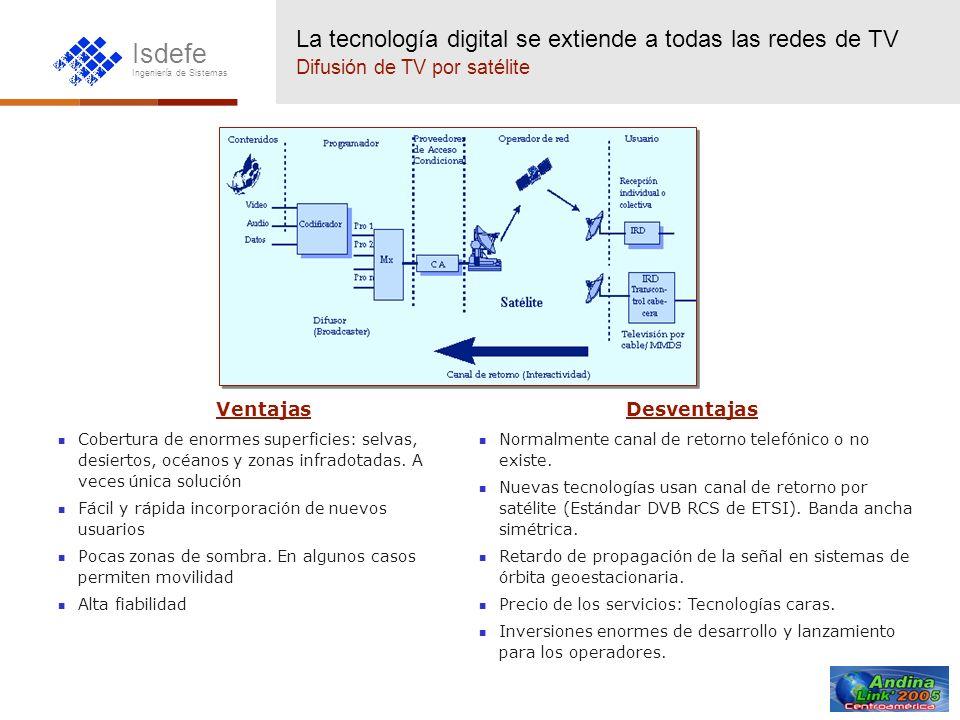 La tecnología digital se extiende a todas las redes de TV Difusión de TV por satélite