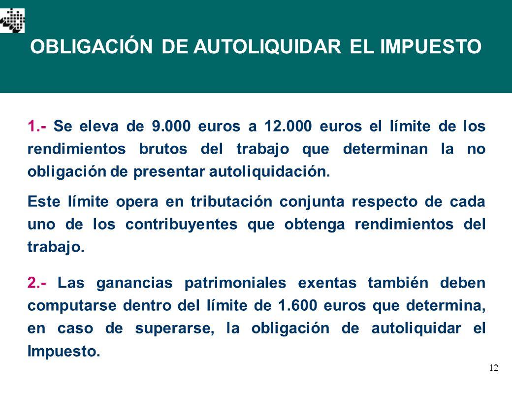 OBLIGACIÓN DE AUTOLIQUIDAR EL IMPUESTO
