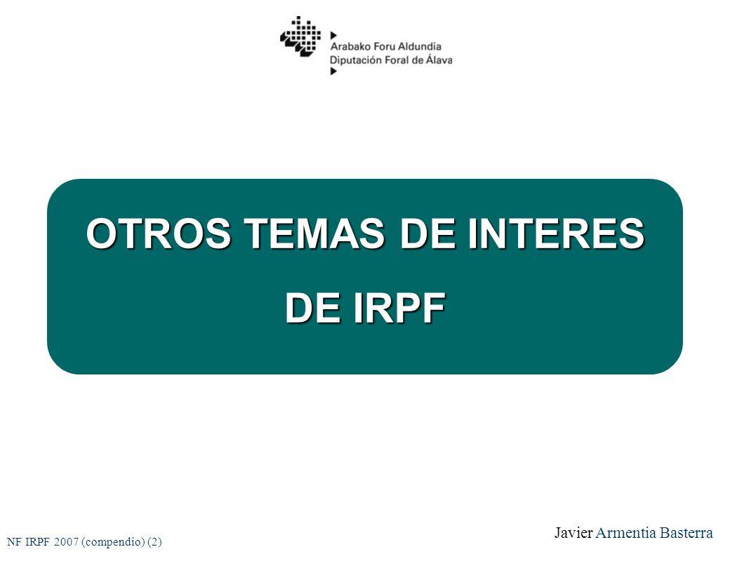 OTROS TEMAS DE INTERES DE IRPF
