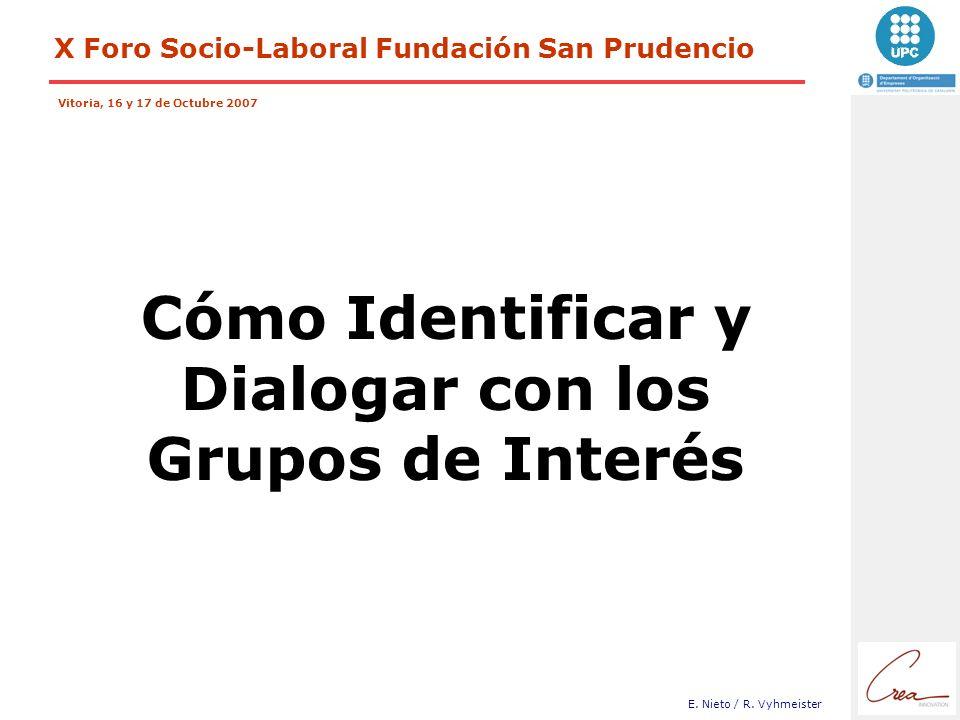 Cómo Identificar y Dialogar con los Grupos de Interés