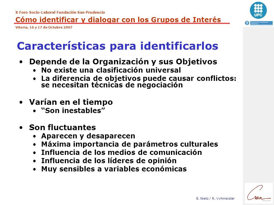 Características para identificarlos
