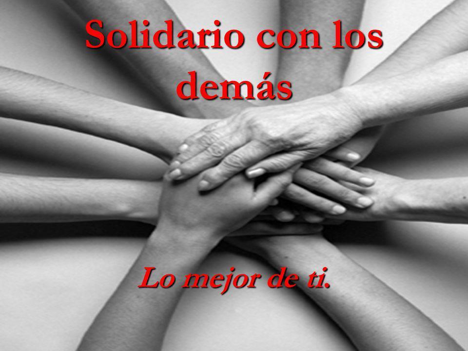 Solidario con los demás