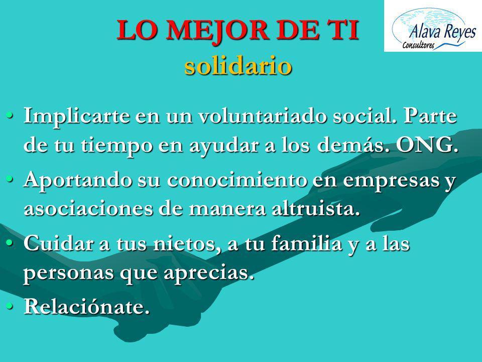 LO MEJOR DE TI solidario