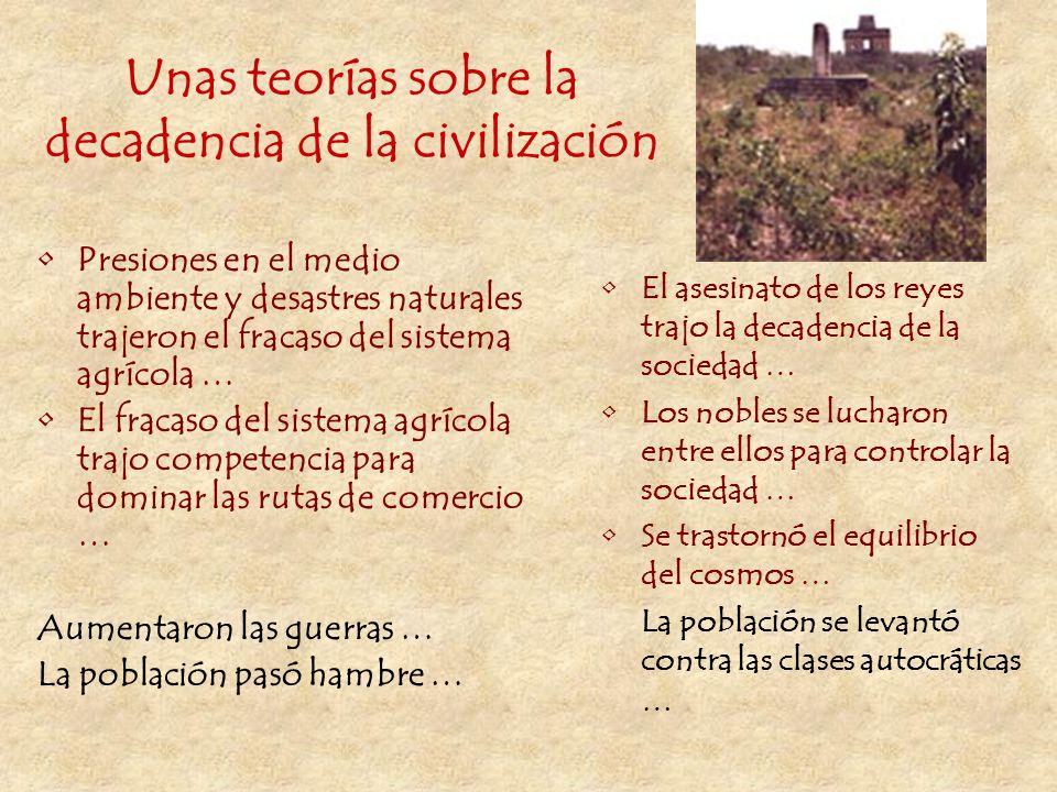 Unas teorías sobre la decadencia de la civilización