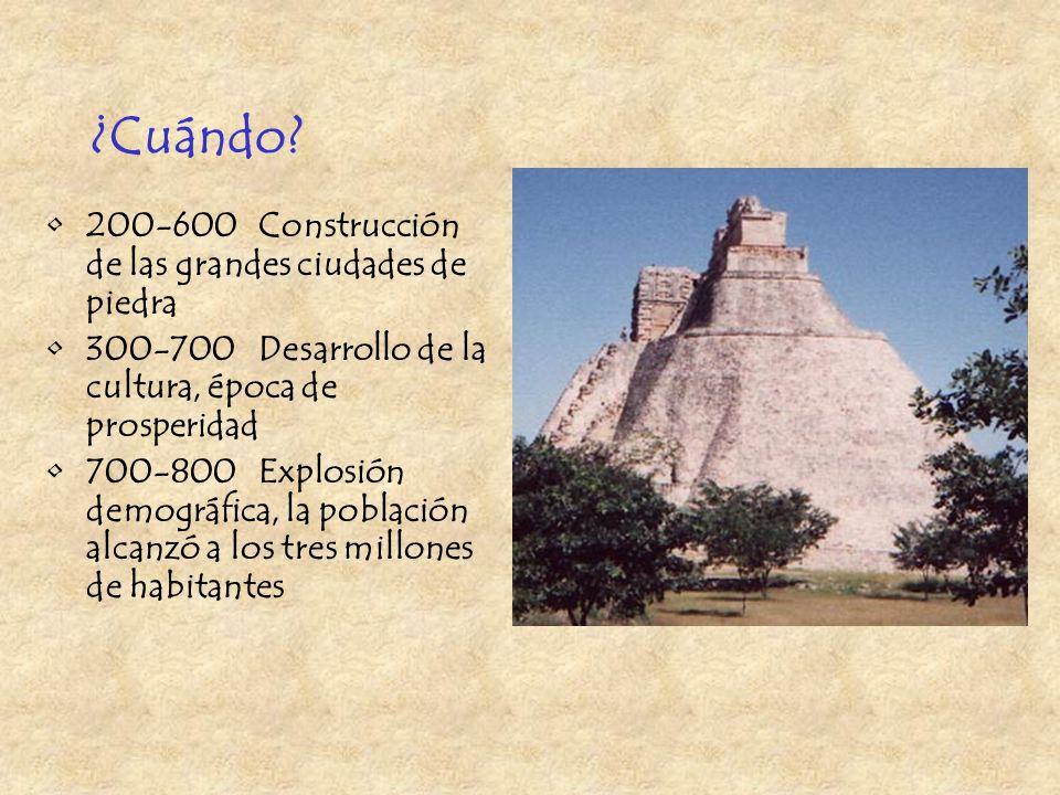 ¿Cuándo 200-600 Construcción de las grandes ciudades de piedra