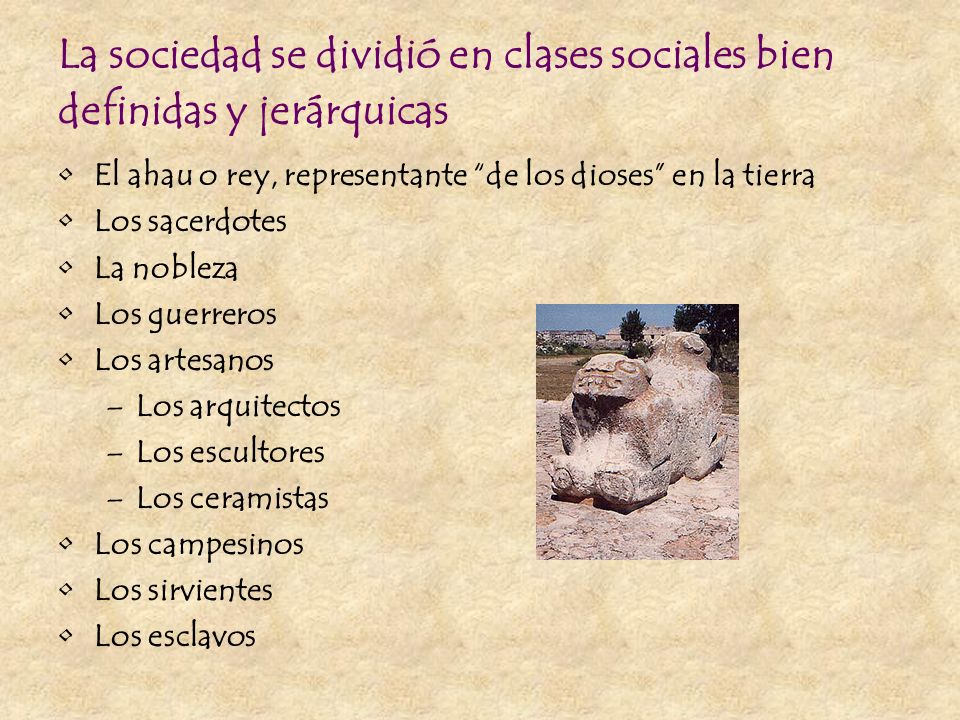 La sociedad se dividió en clases sociales bien definidas y jerárquicas