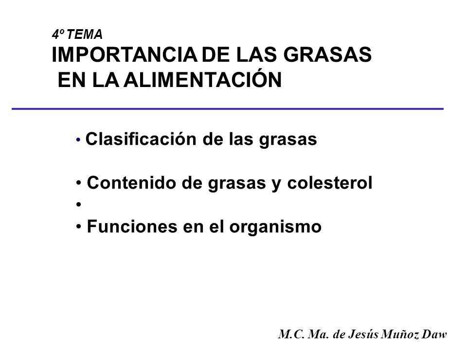 IMPORTANCIA DE LAS GRASAS EN LA ALIMENTACIÓN