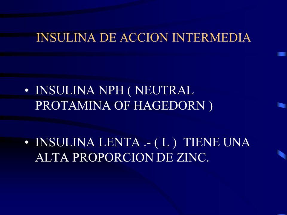 INSULINA DE ACCION INTERMEDIA