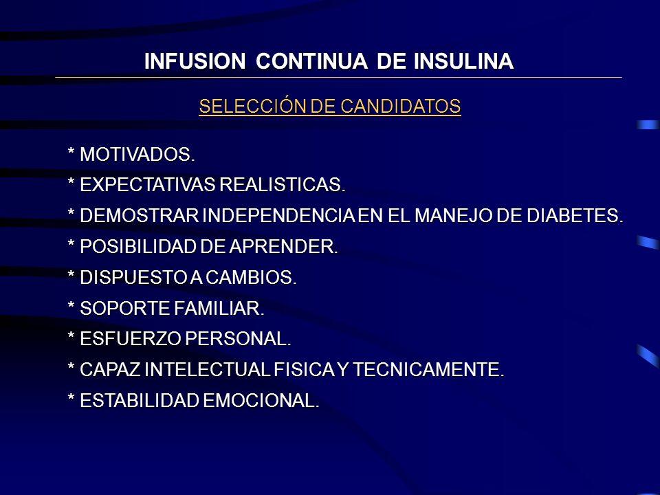 INFUSION CONTINUA DE INSULINA
