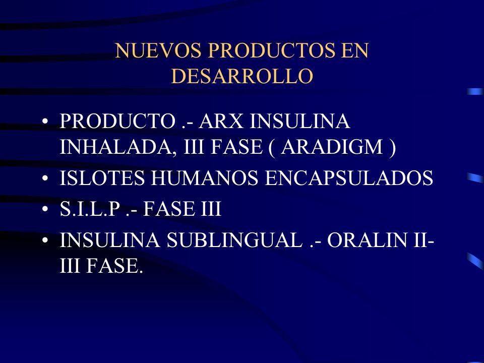 NUEVOS PRODUCTOS EN DESARROLLO