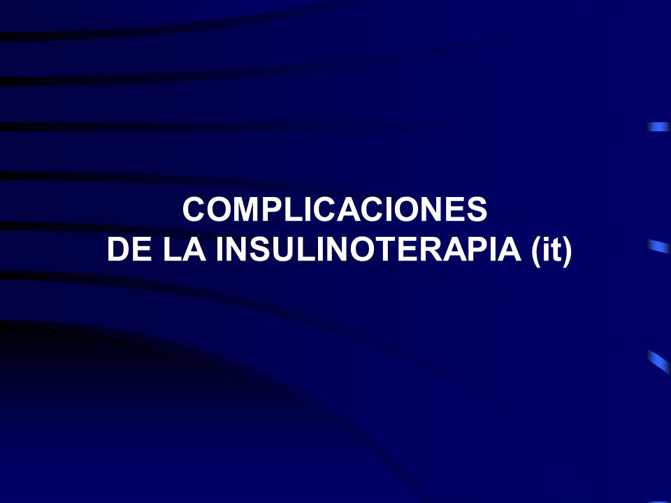 DE LA INSULINOTERAPIA (it)