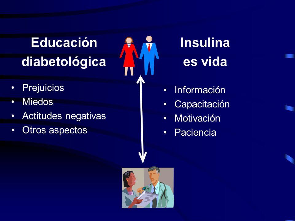 Educación diabetológica Insulina es vida
