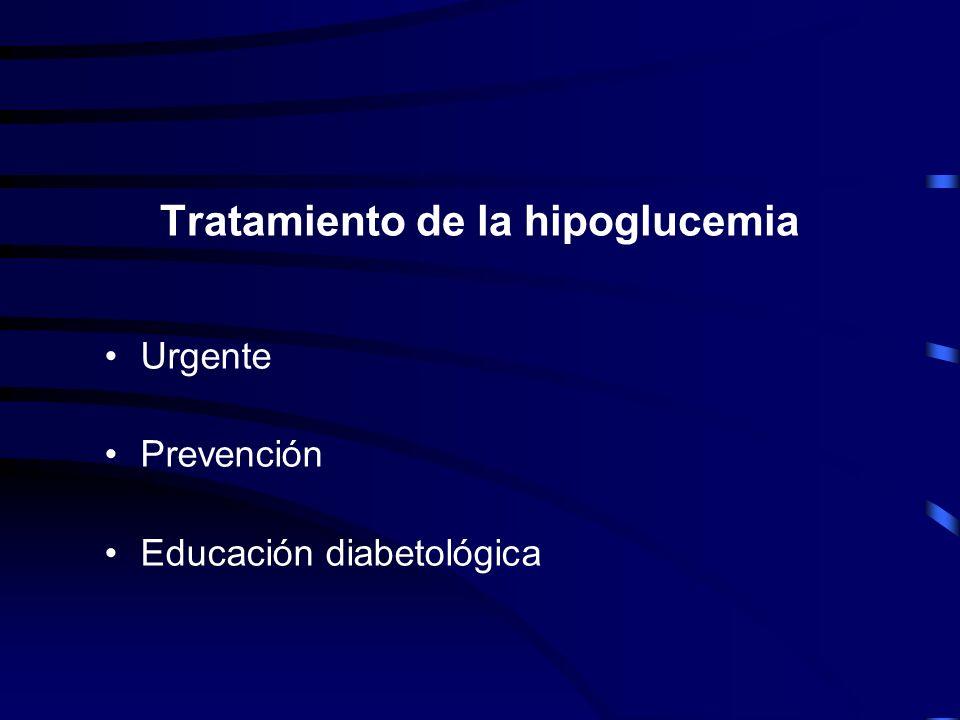 Tratamiento de la hipoglucemia