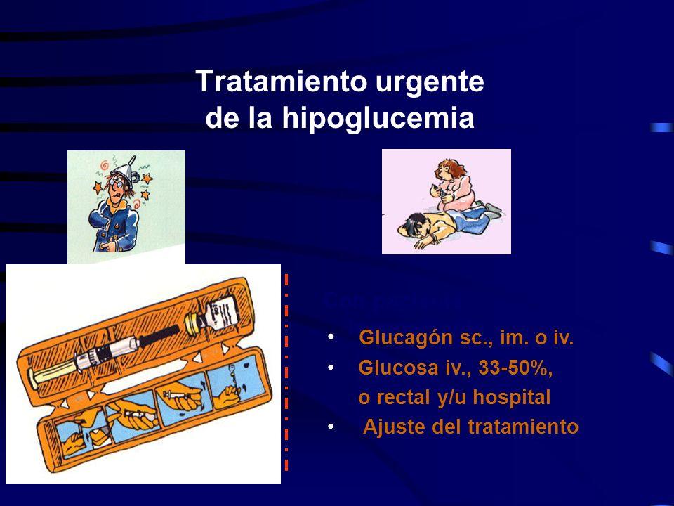 Tratamiento urgente de la hipoglucemia