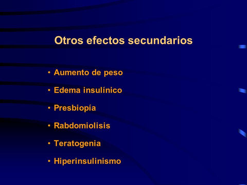 Otros efectos secundarios