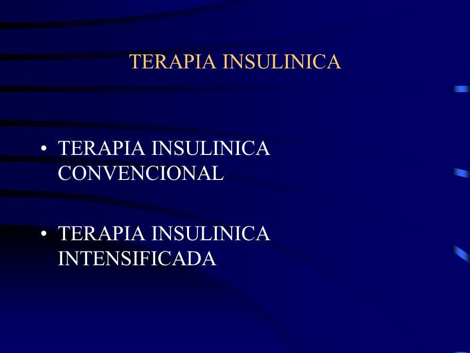 TERAPIA INSULINICA TERAPIA INSULINICA CONVENCIONAL TERAPIA INSULINICA INTENSIFICADA