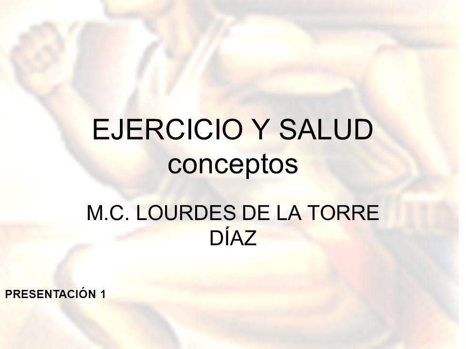 EJERCICIO Y SALUD conceptos