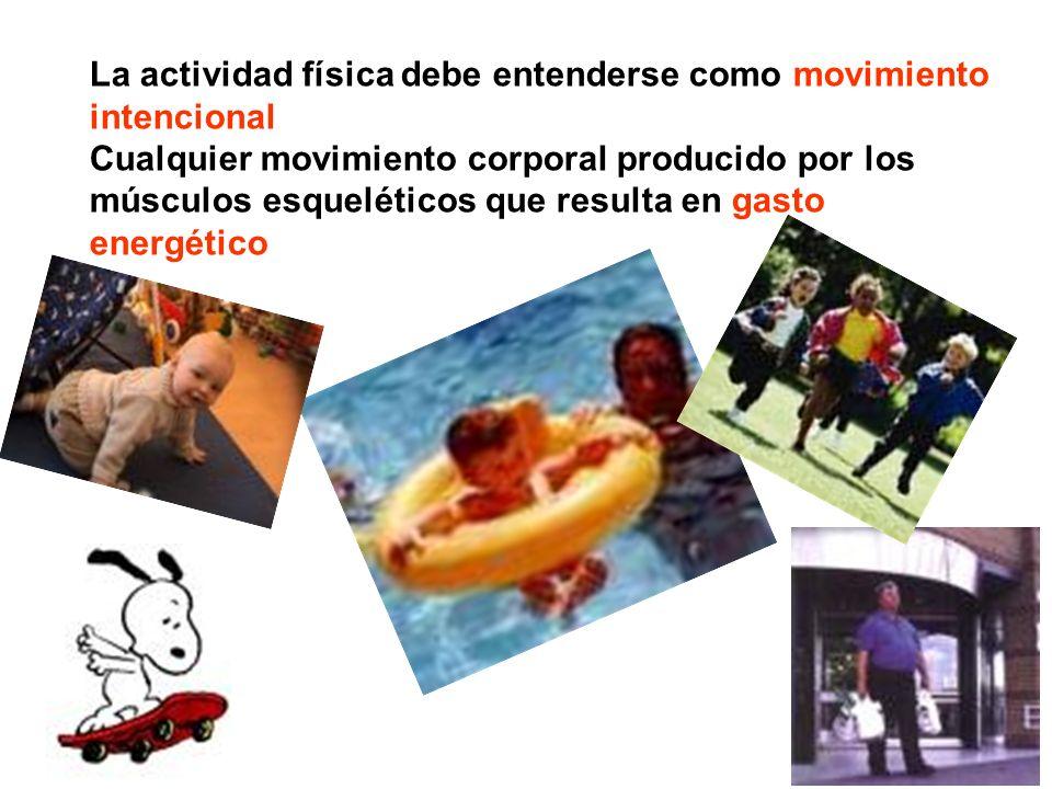 La actividad física debe entenderse como movimiento intencional