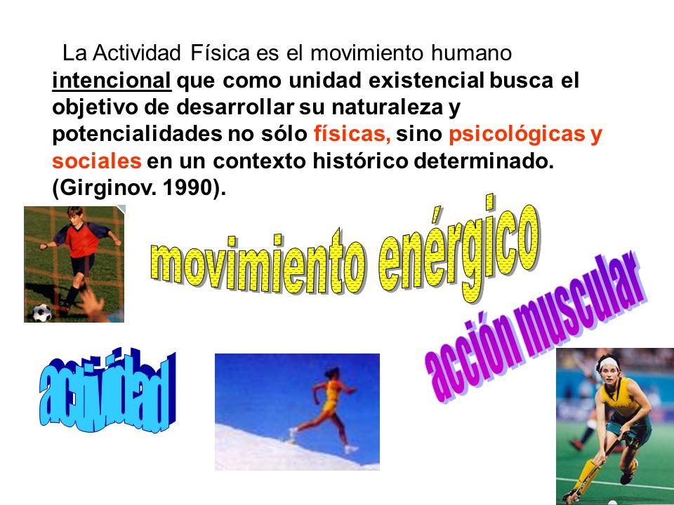 movimiento enérgico acción muscular actividad