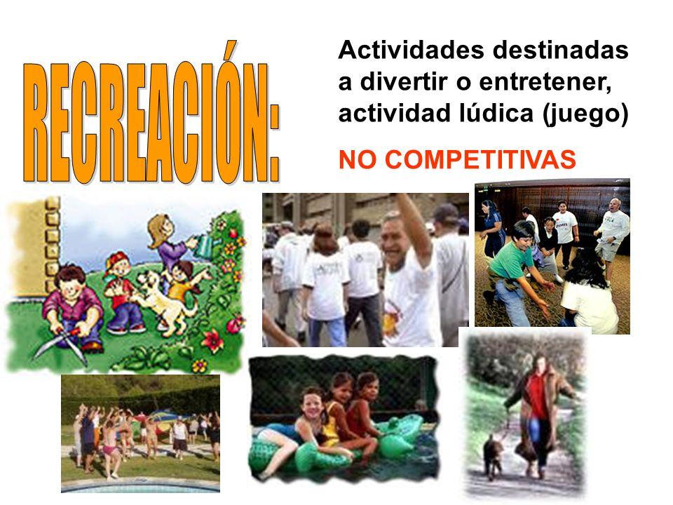 Actividades destinadas a divertir o entretener, actividad lúdica (juego)