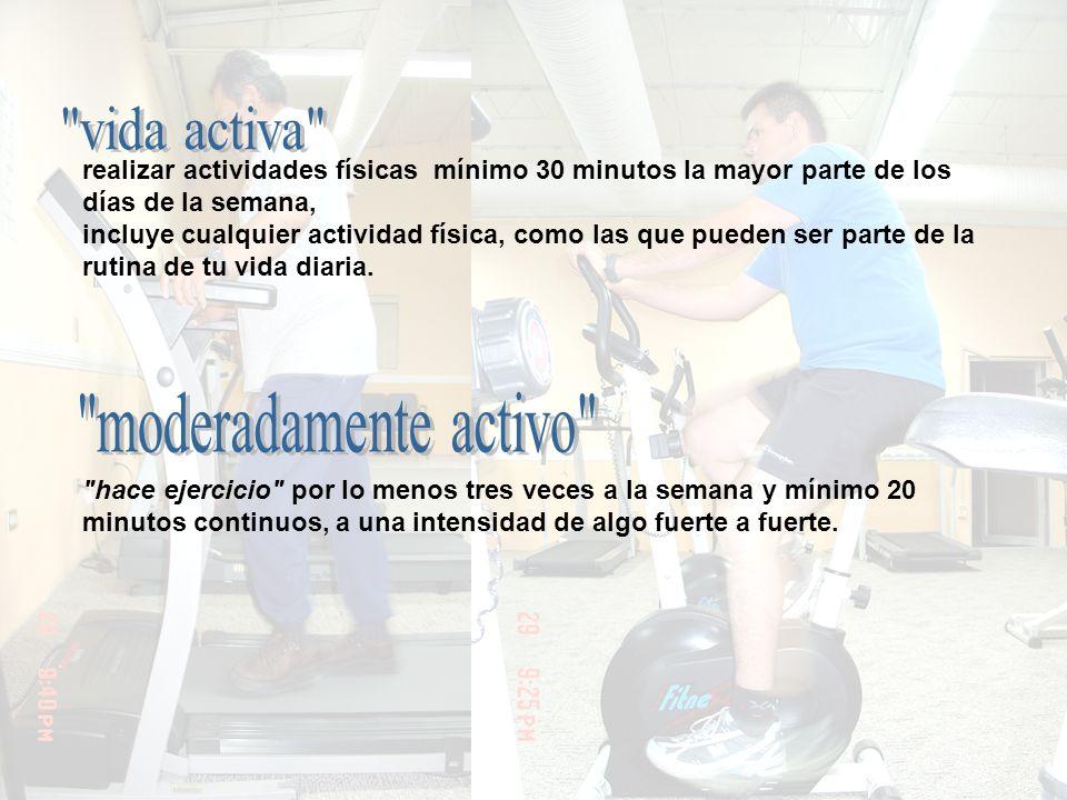vida activa moderadamente activo