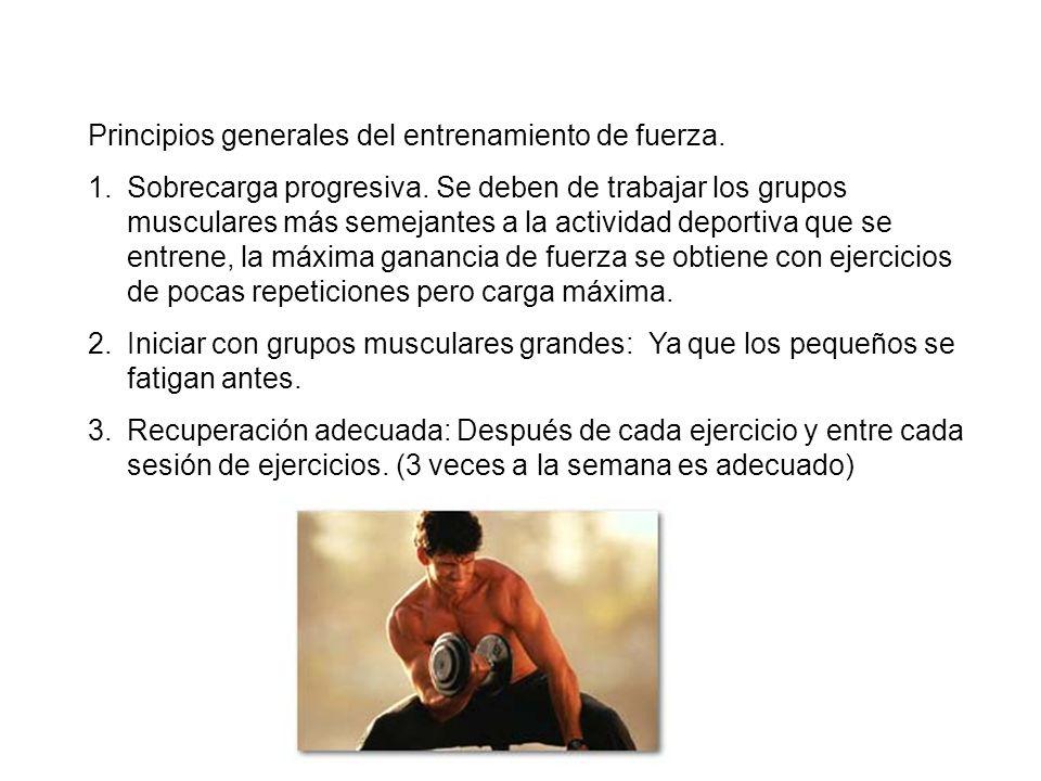 Principios generales del entrenamiento de fuerza.