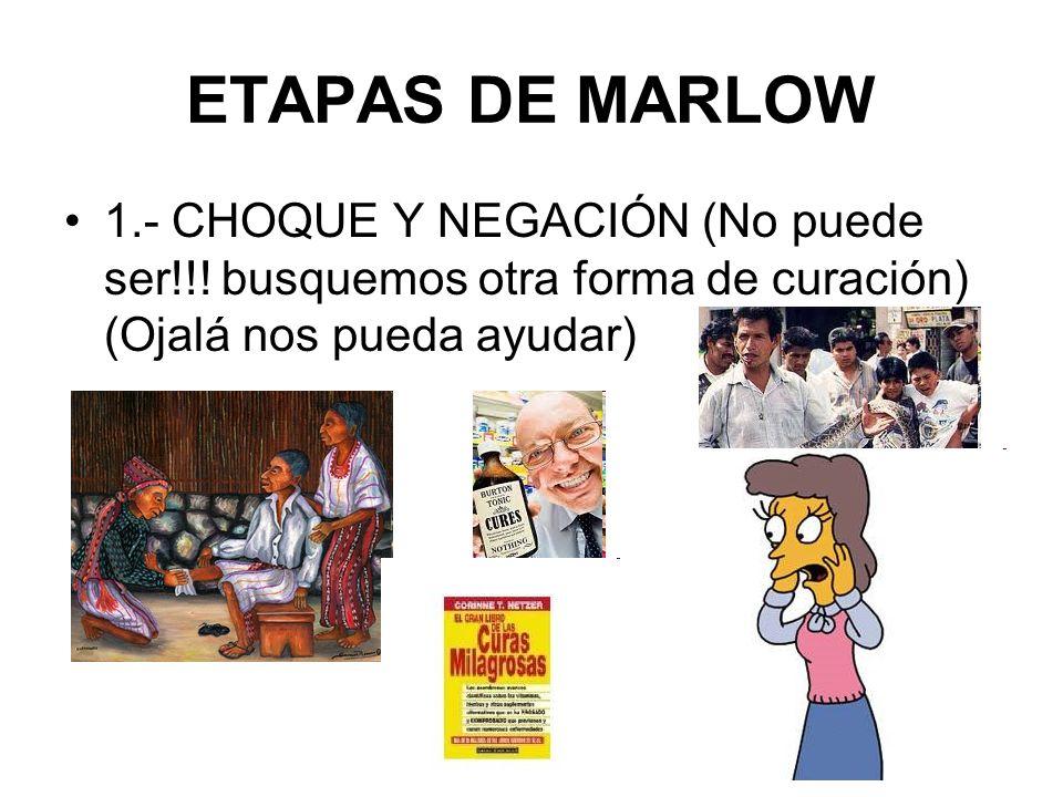 ETAPAS DE MARLOW 1.- CHOQUE Y NEGACIÓN (No puede ser!!.