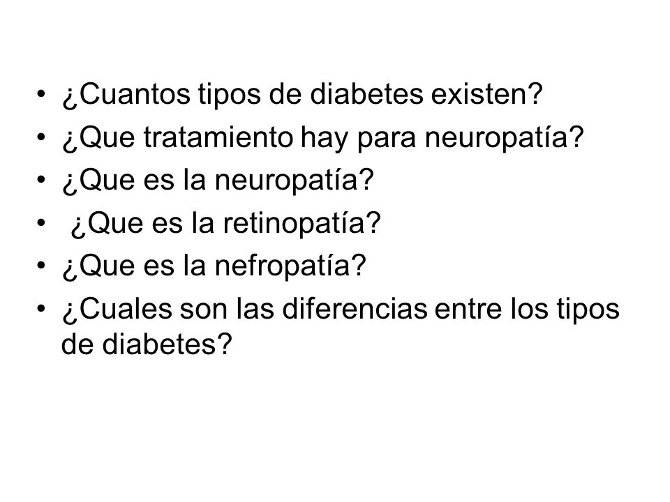 ¿Cuantos tipos de diabetes existen