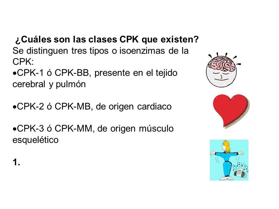 ¿Cuáles son las clases CPK que existen