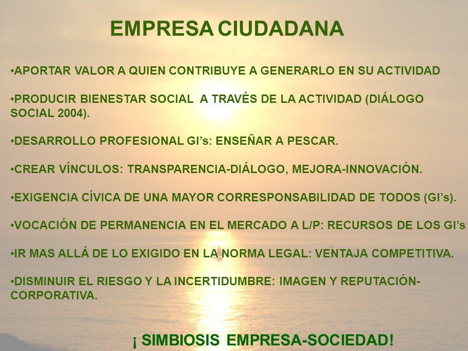 ¡ SIMBIOSIS EMPRESA-SOCIEDAD!