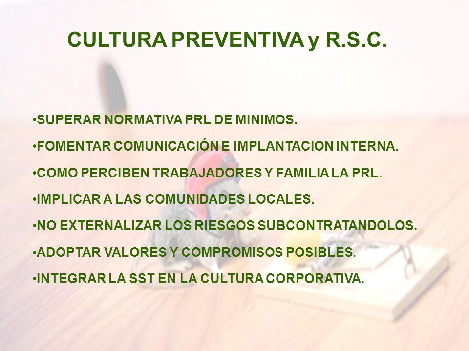 CULTURA PREVENTIVA y R.S.C.