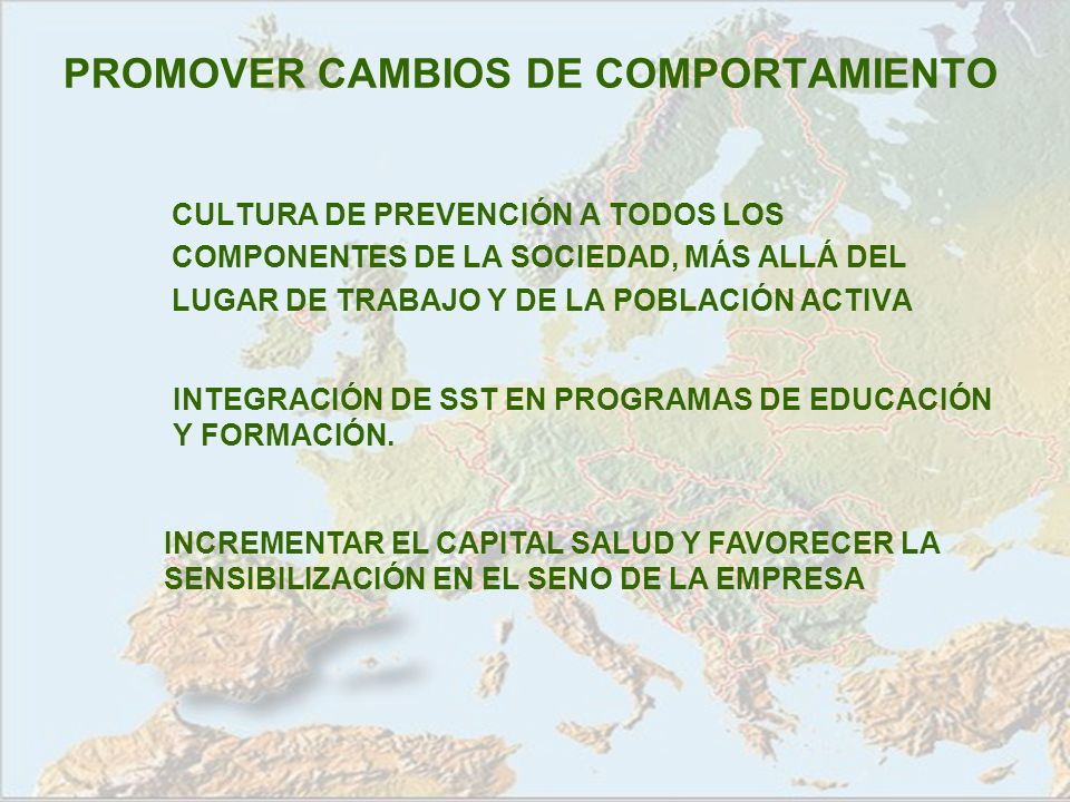 PROMOVER CAMBIOS DE COMPORTAMIENTO