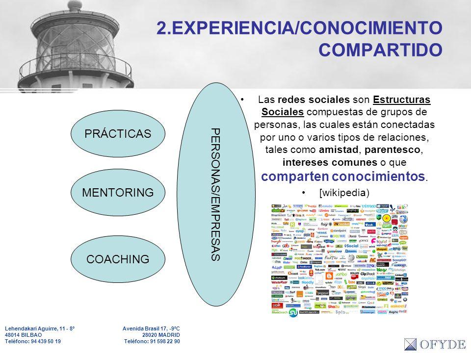 2.EXPERIENCIA/CONOCIMIENTO COMPARTIDO