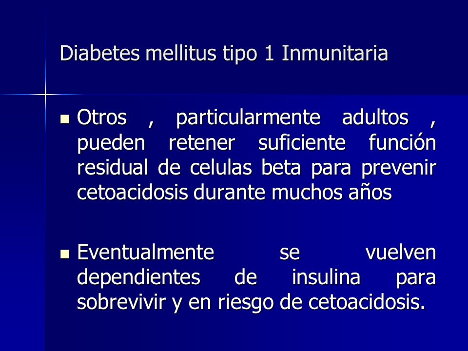 Diabetes mellitus tipo 1 Inmunitaria