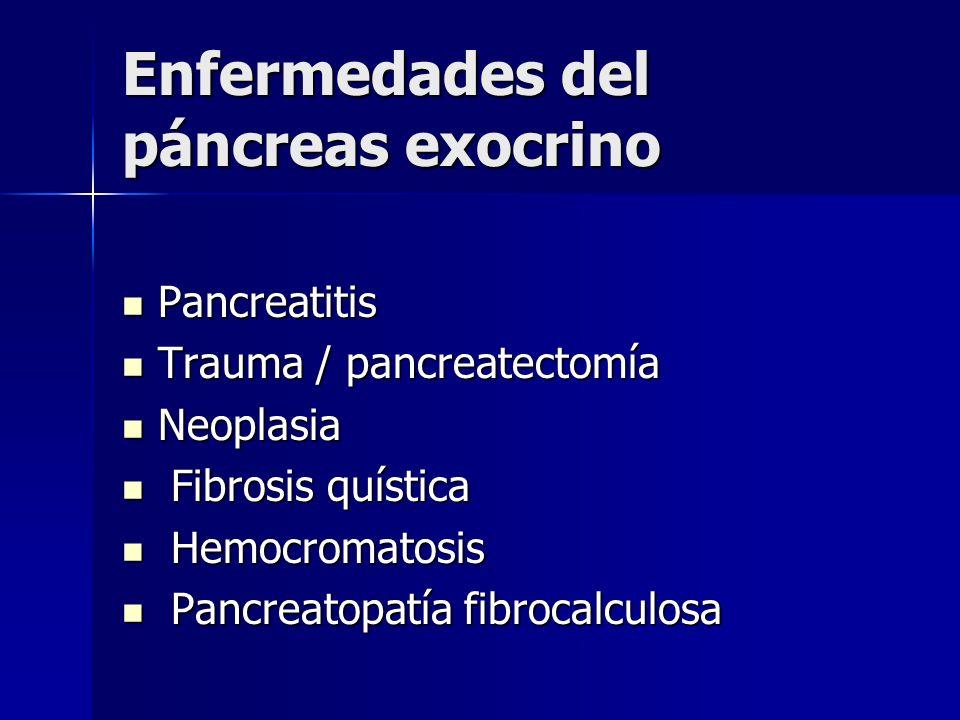 Enfermedades del páncreas exocrino