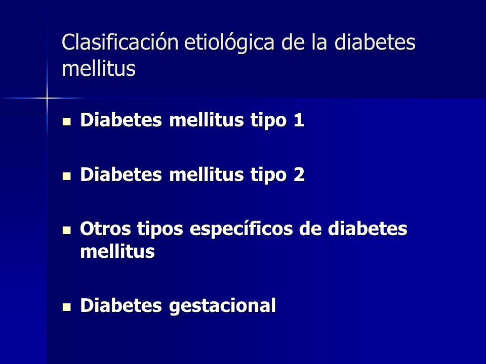 Clasificación etiológica de la diabetes mellitus