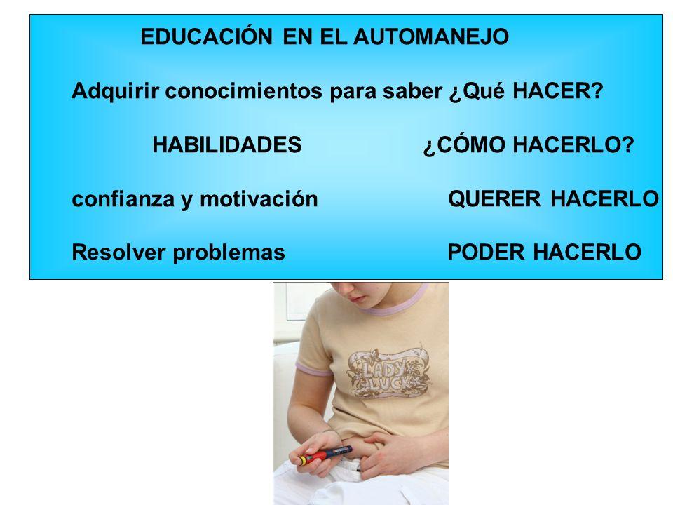 EDUCACIÓN EN EL AUTOMANEJO