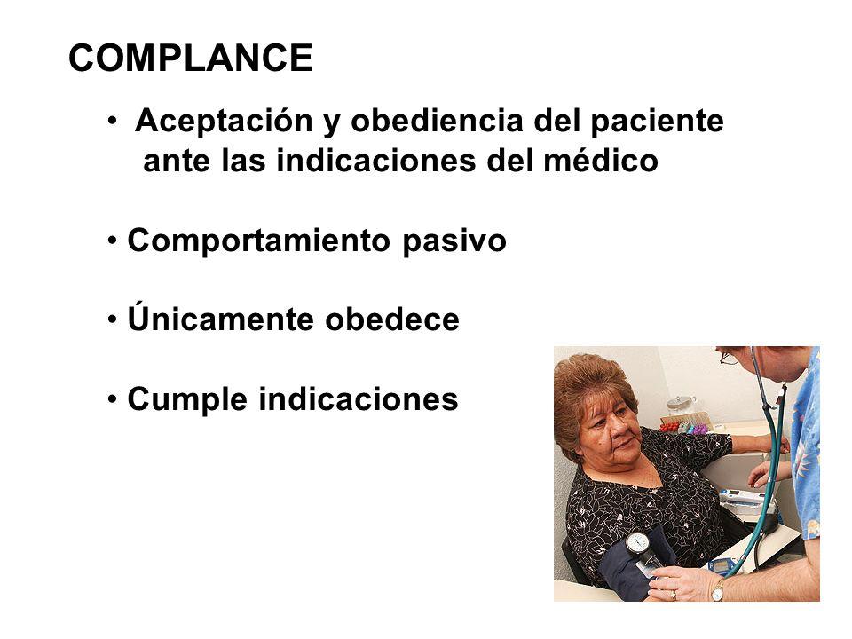 COMPLANCE Aceptación y obediencia del paciente