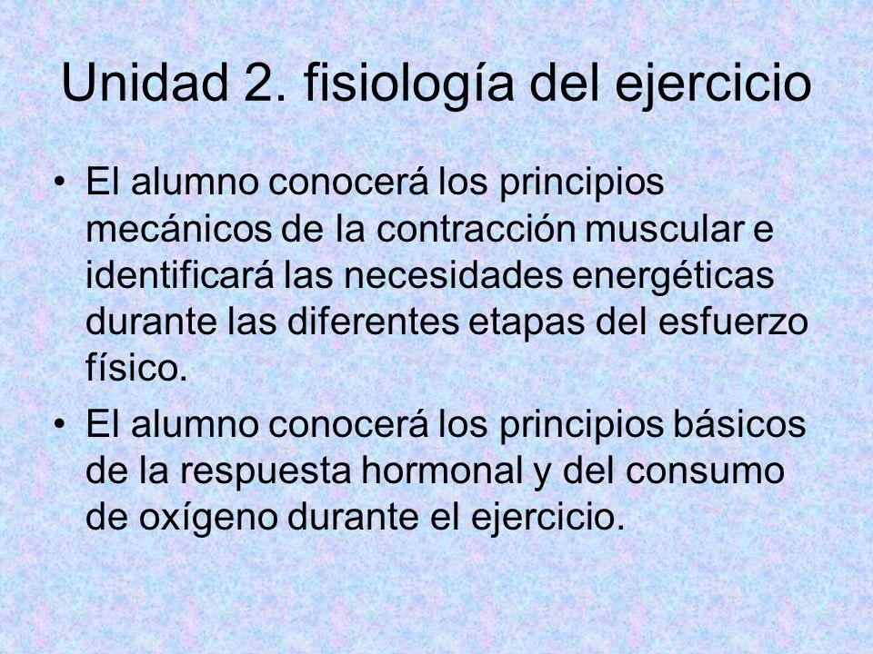Unidad 2. fisiología del ejercicio
