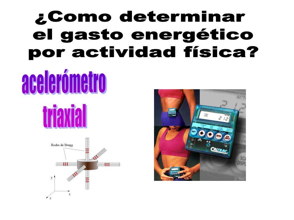 ¿Como determinar el gasto energético por actividad física acelerómetro triaxial
