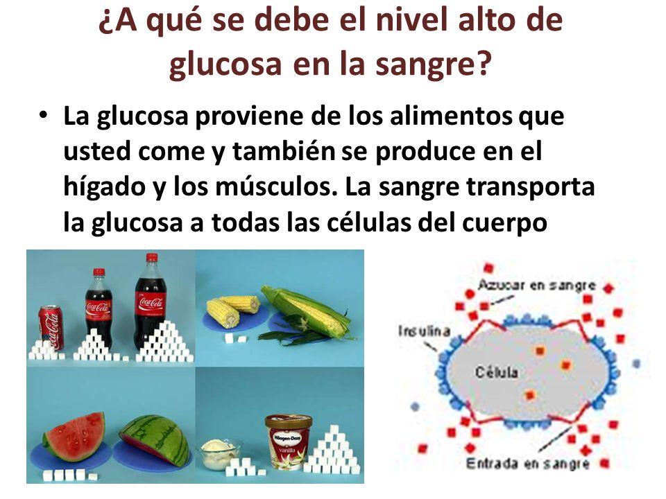 ¿A qué se debe el nivel alto de glucosa en la sangre