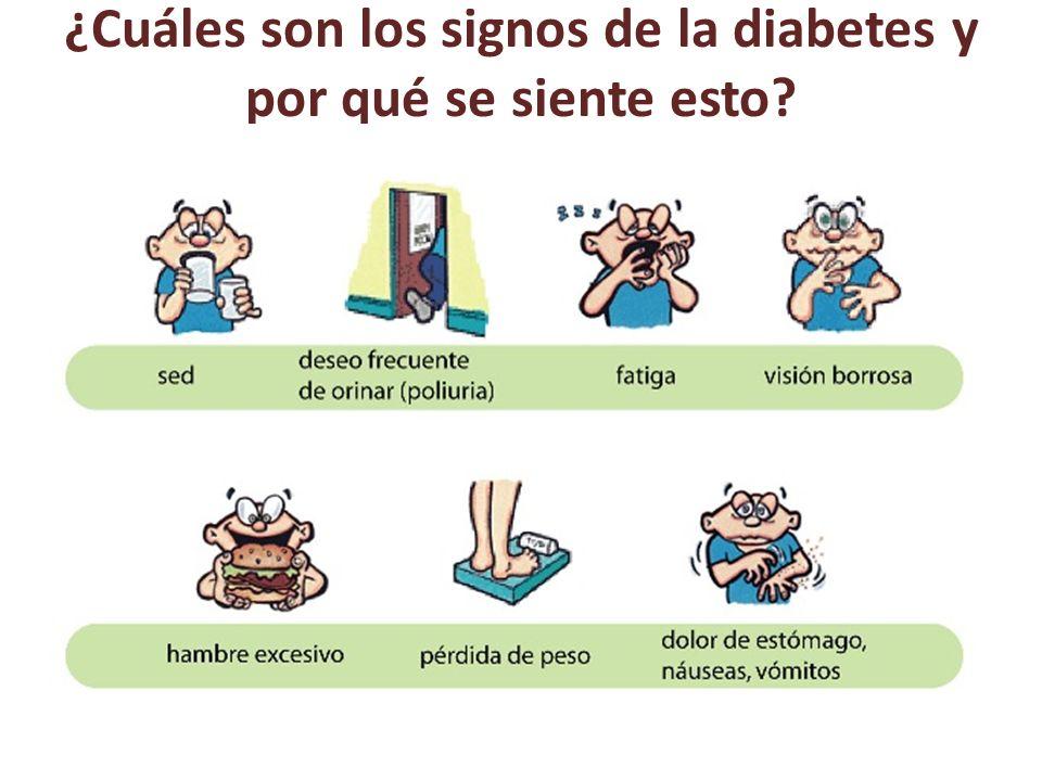 ¿Cuáles son los signos de la diabetes y por qué se siente esto