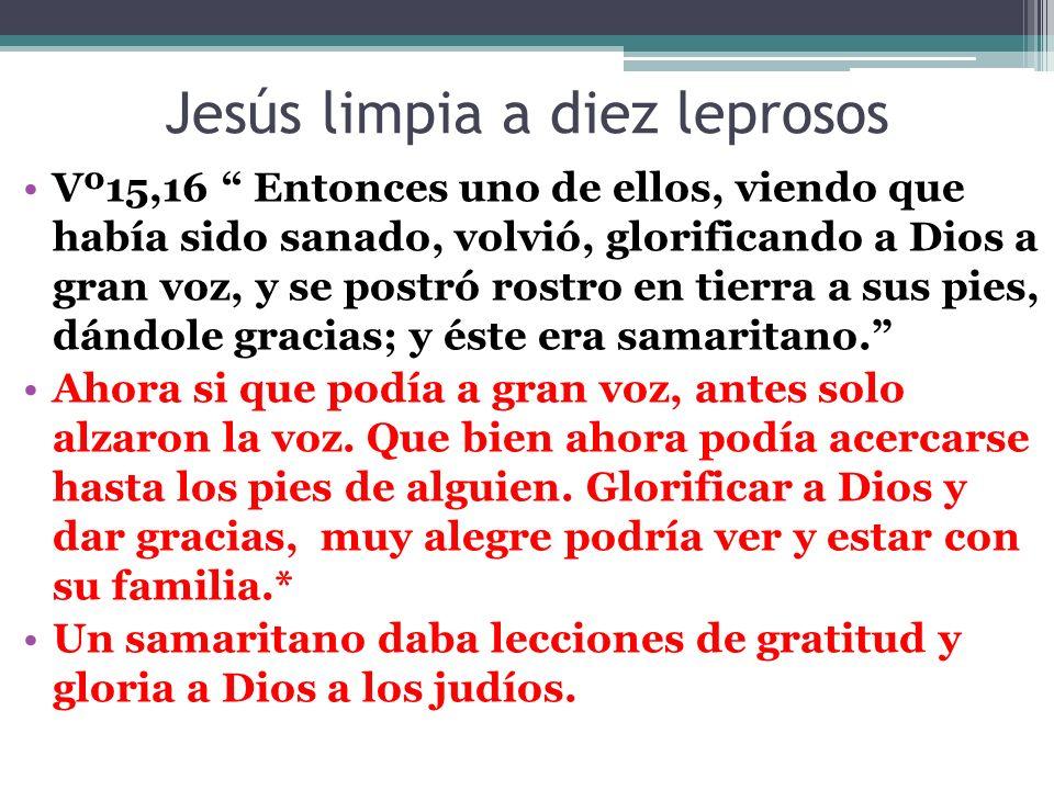 Jesús limpia a diez leprosos